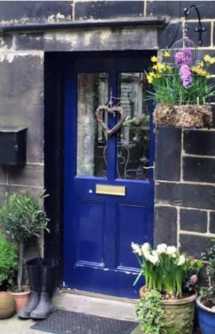 Front door, before