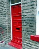 High gloss door, sills and window frames