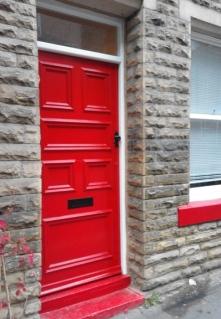 High gloss front door