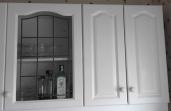 Kitchen cupboard with glazing