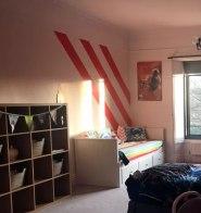 Child striped bedroom masking