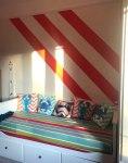 Child striped bedroom