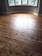 Stripped pine floor