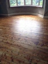Stripped pine floor