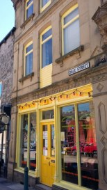 Yellow shop front Todmorden